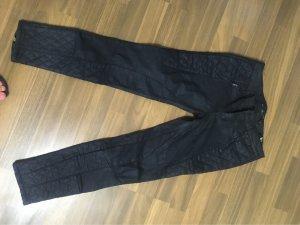 Zara Woman Pantalone in pelle nero