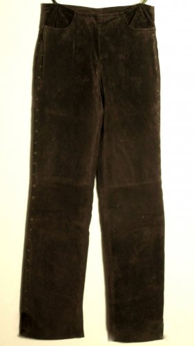 Y.O.U. Pantalon en cuir brun