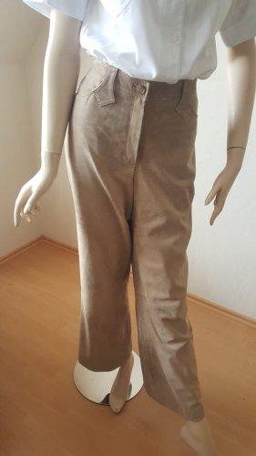 Taifun Pantalon en cuir beige-beige clair