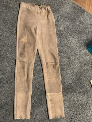 Arma Collection Pantalon en cuir bronze cuir