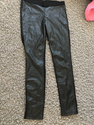 Leder Hose mit zwei Stoffen