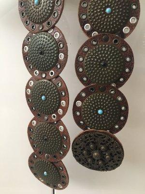 Selection Vanzetti Ceinture en cuir brun-bronze
