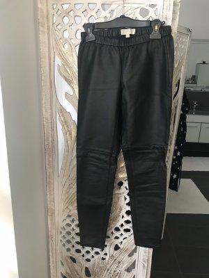 Michael Kors Pantalon en cuir noir fibre synthétique