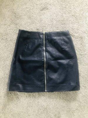 H&M Spódnica z imitacji skóry ciemnoniebieski
