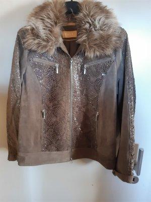 Biba Oversized Jacket grey brown