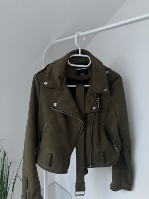Tally Weijl Leather Jacket khaki-olive green
