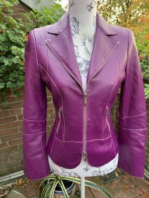 Walter Leren blazer lila-violet