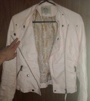 outerwear Chaqueta de cuero de imitación rosa