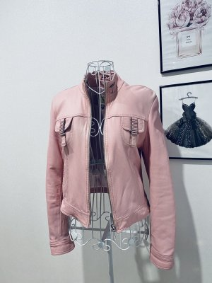 Leder Jacke rosé Gr S