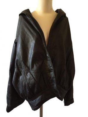 Leder Jacke Schwarz -Made in Spanien
