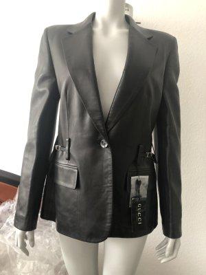 Gucci Blazer en cuir noir cuir