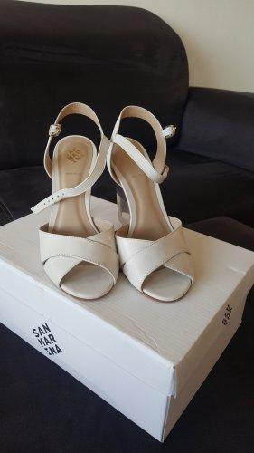 Leder Keilabsatz Sandalen