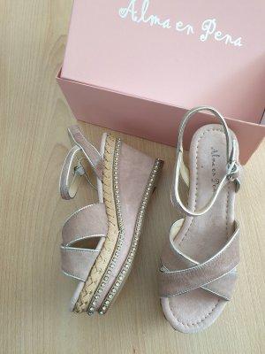 Alma en Pena Sandaletto con tacco alto rosa antico-rosa pallido Pelle