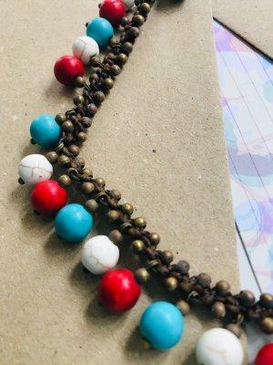 Collana multicolore Tessuto misto