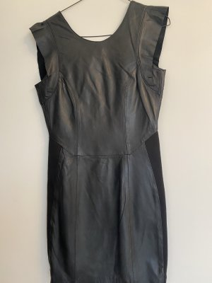 ECHT LEDER Leather Dress black