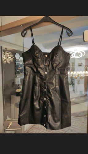 Sheinside Leather Dress black