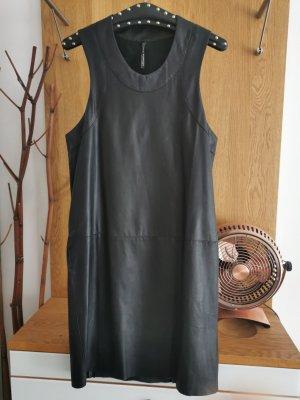 Liviana Conti Robe en cuir noir