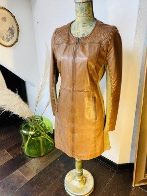 Transmission Vestido de cuero color bronce-marrón