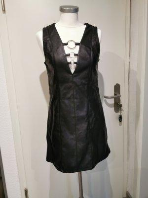 H&M Divided Vestito in pelle nero