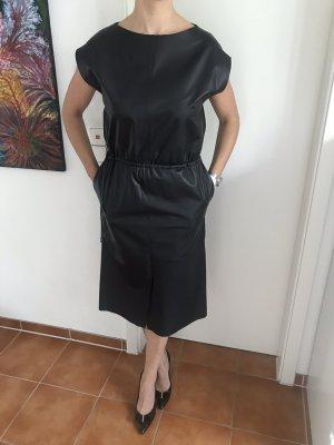 Leder Kleid mit Kordel