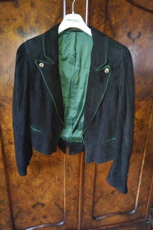 Alba Moda Chaqueta folclórica negro-verde oscuro