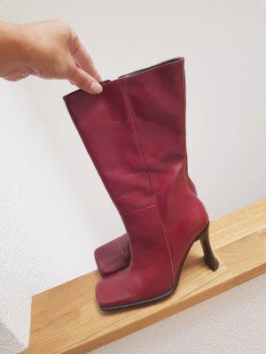 Italy Korte laarzen donkerrood