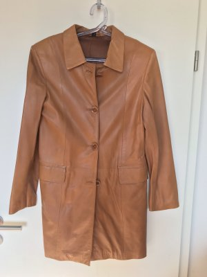 Per Me Leather Coat cognac-coloured-dark orange