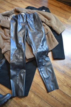 Leder Leggin H&M schwarz Gr. 38