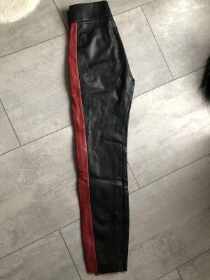 Zara Legging zwart-karmijn