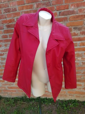 Leder-look Jacke in rot Gr 38/40
