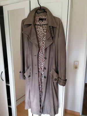 Roberto Cavalli Leather Jacket light grey-mauve