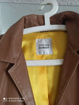 Steffen Schraut Cappotto in pelle color cammello