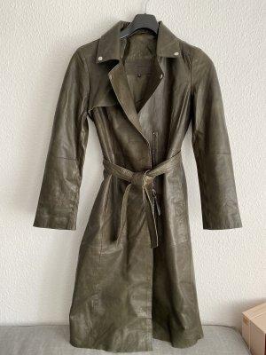 Cigno Nero Skórzany płaszcz Wielokolorowy