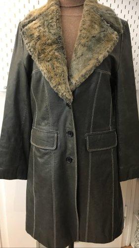 ME BY MILESTONE Manteau en cuir gris