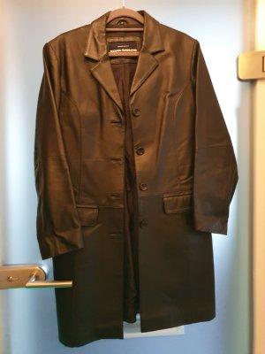 Tom Tailor Leather Coat black