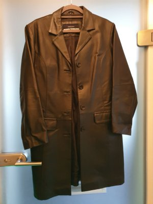 Tom Tailor Leather Coat black