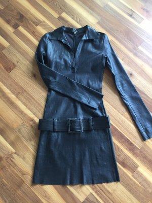 jitrois Vestido de cuero negro