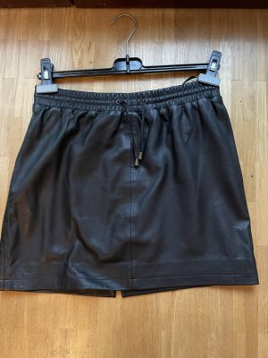 Black Lily Leather Skirt black