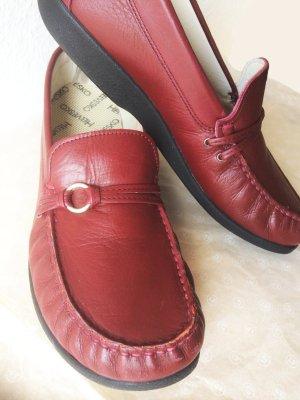 Leder Mokassins der Marke Helvesko, dunkelrot, nicht getragen, super bequem