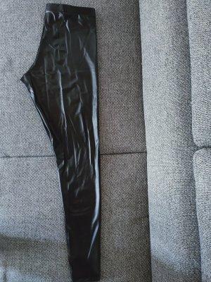 Pantalón de cuero negro Poliuretano