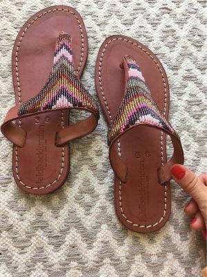 laidbacklondon Sandalo toe-post marrone-rosa pallido Pelle