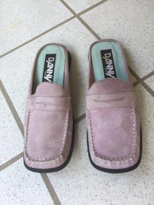 Danny Shoes Sabots mauve leather
