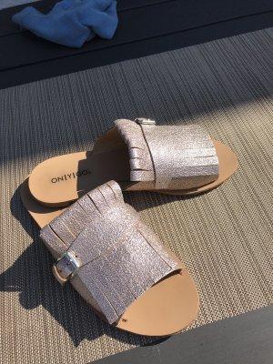 Onygo Sabot or rose cuir