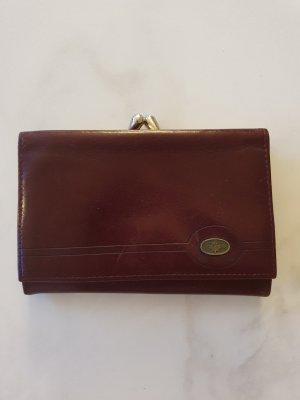 Leder Portemonnaie / Geldbörse weinrot / vintage