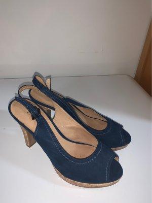 5th Avenue High Heel Sandal dark blue