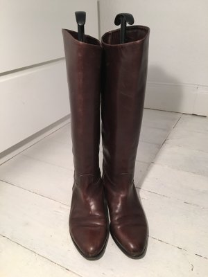 Hugo Boss Riding Boots black brown-dark brown leather