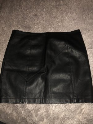 Noisy May Leather Skirt black