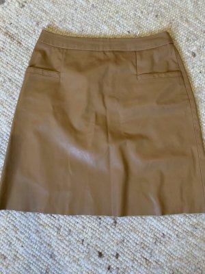 Boss Orange Leather Skirt camel