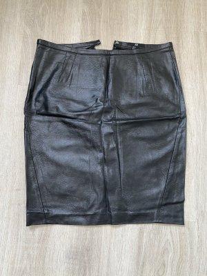 H&M Jupe en cuir noir