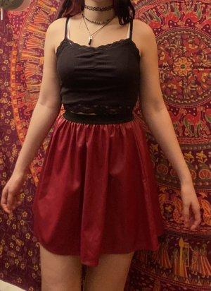 Atmosphere Faux Leather Skirt bordeaux